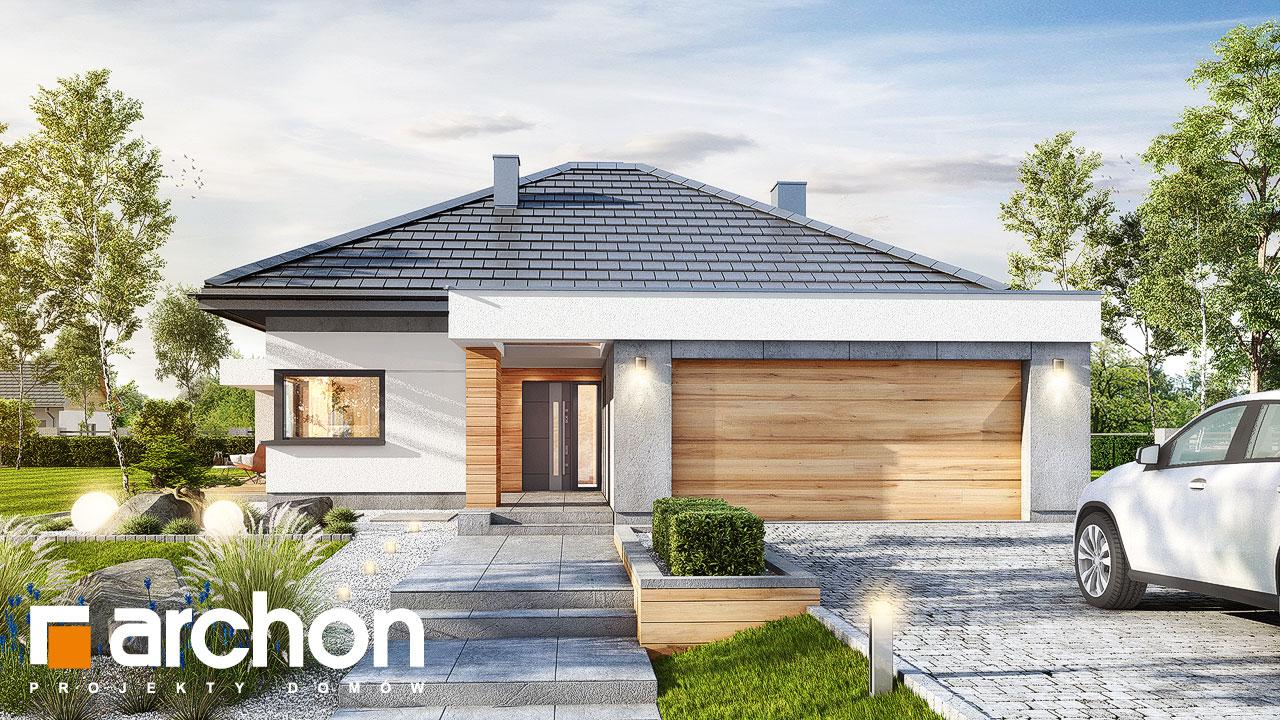 Проект будинку ARCHON+ Будинок в нігеллах (Г2) додаткова візуалізація