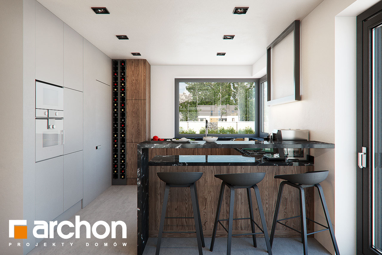 Проект будинку ARCHON+ Будинок в нігеллах (Г2) візуалізація кухні 1 від 1