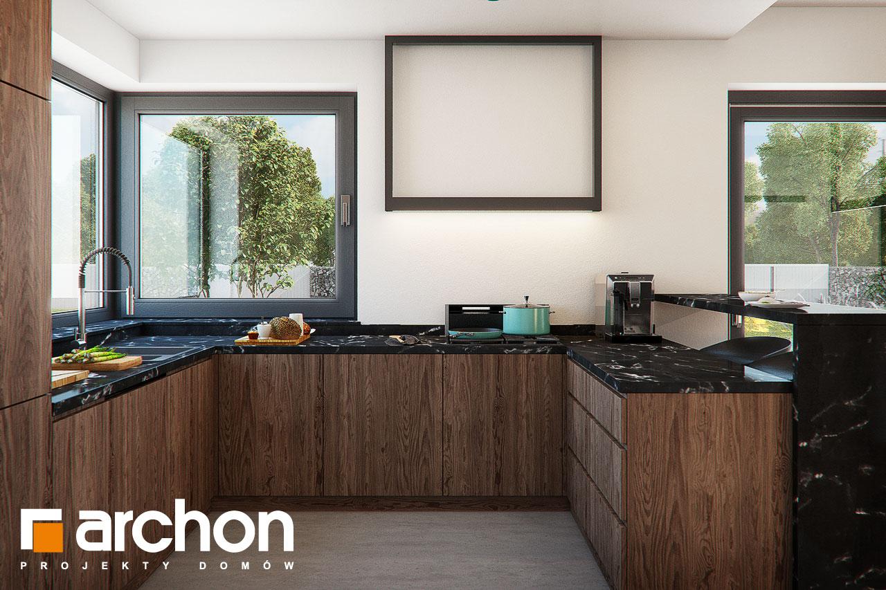 Проект дома ARCHON+ Дом в нигеллах (Г2) визуализация кухни 1 вид 2