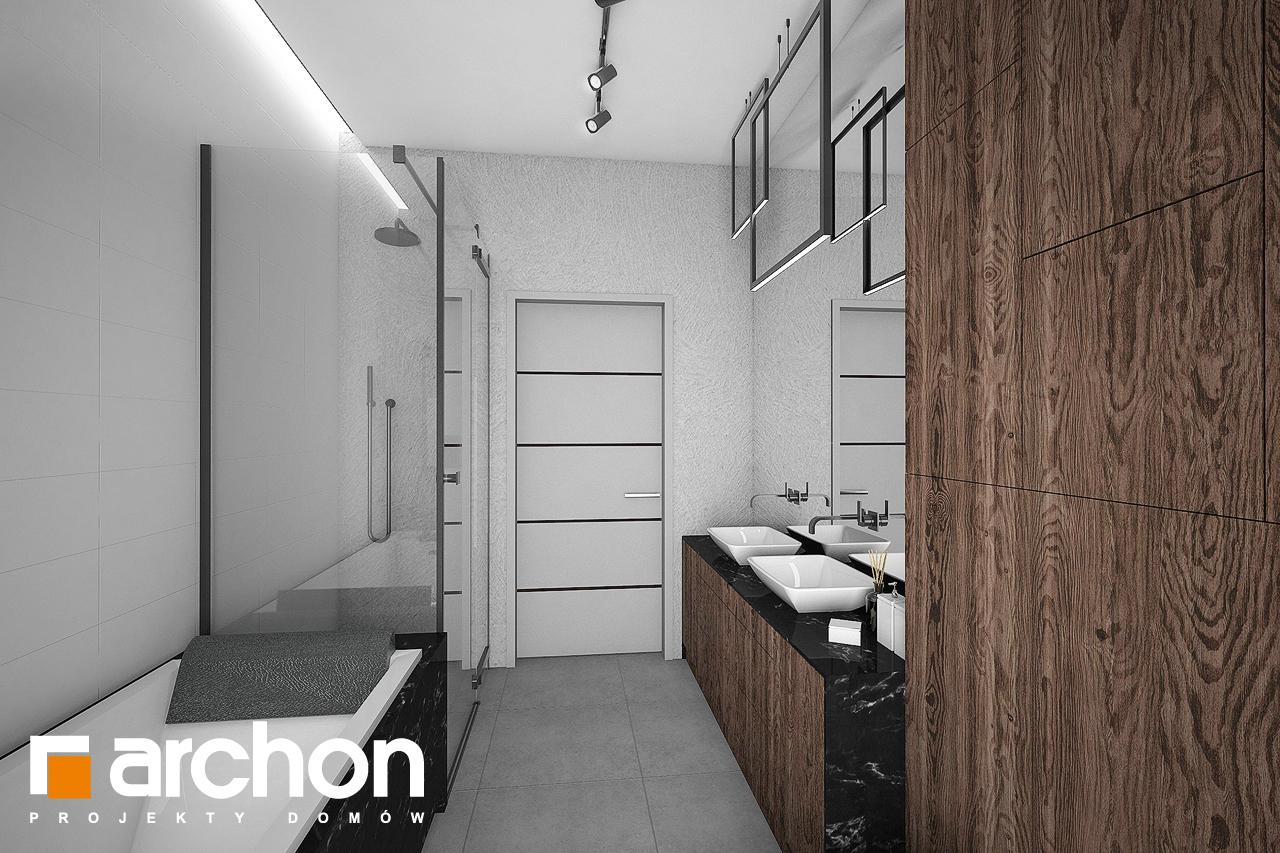 Проект дома ARCHON+ Дом в нигеллах (Г2) визуализация ванной (визуализация 3 вид 2)