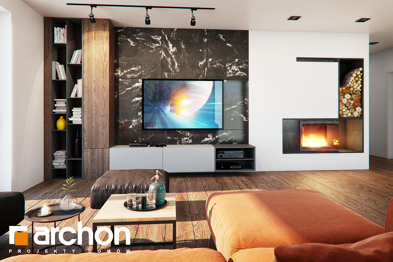 Проект будинку ARCHON+ Будинок в нігеллах (Г2) денна зона (візуалізація 1 від 1)