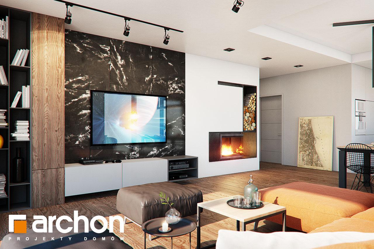 Проект дома ARCHON+ Дом в нигеллах (Г2) дневная зона (визуализация 1 вид 2)