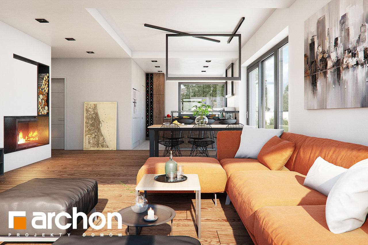 Проект дома ARCHON+ Дом в нигеллах (Г2) дневная зона (визуализация 1 вид 3)