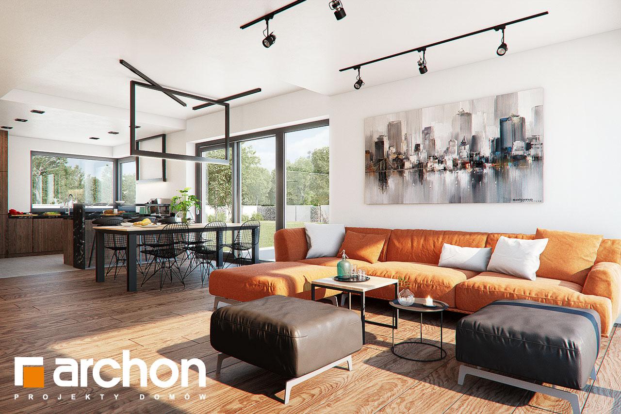 Проект дома ARCHON+ Дом в нигеллах (Г2) дневная зона (визуализация 1 вид 4)