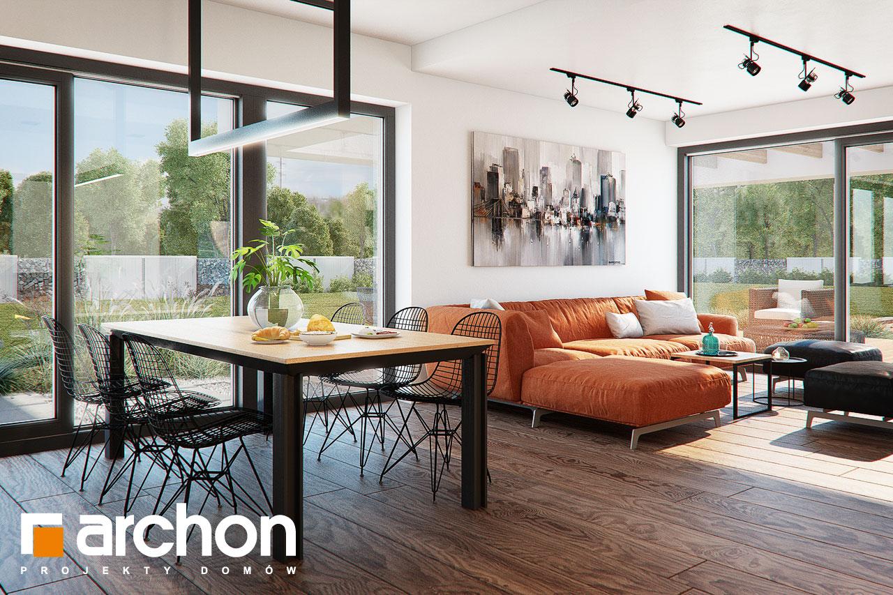Проект дома ARCHON+ Дом в нигеллах (Г2) дневная зона (визуализация 1 вид 5)