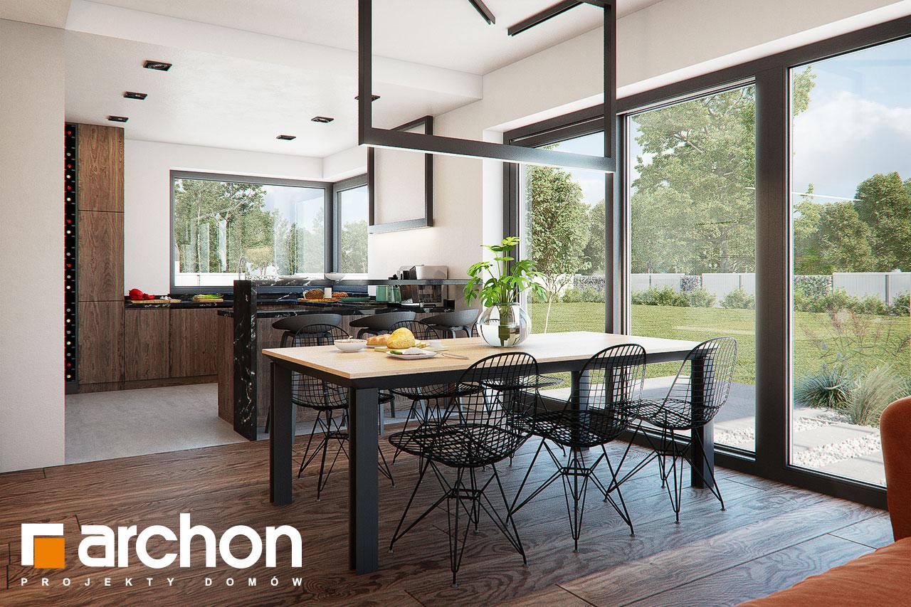 Проект дома ARCHON+ Дом в нигеллах (Г2) дневная зона (визуализация 1 вид 6)