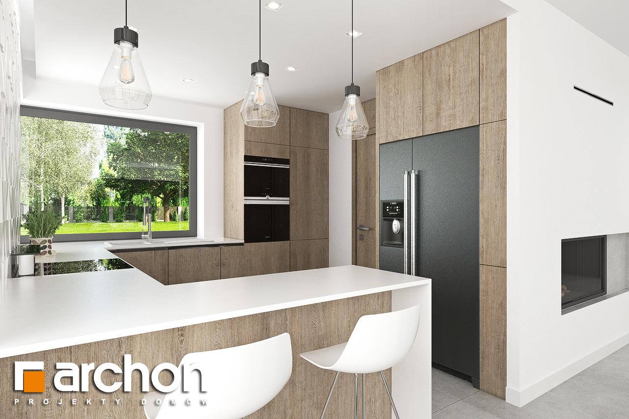 Проект дома ARCHON+ Дом в тополях (Г2) визуализация кухни 1 вид 1