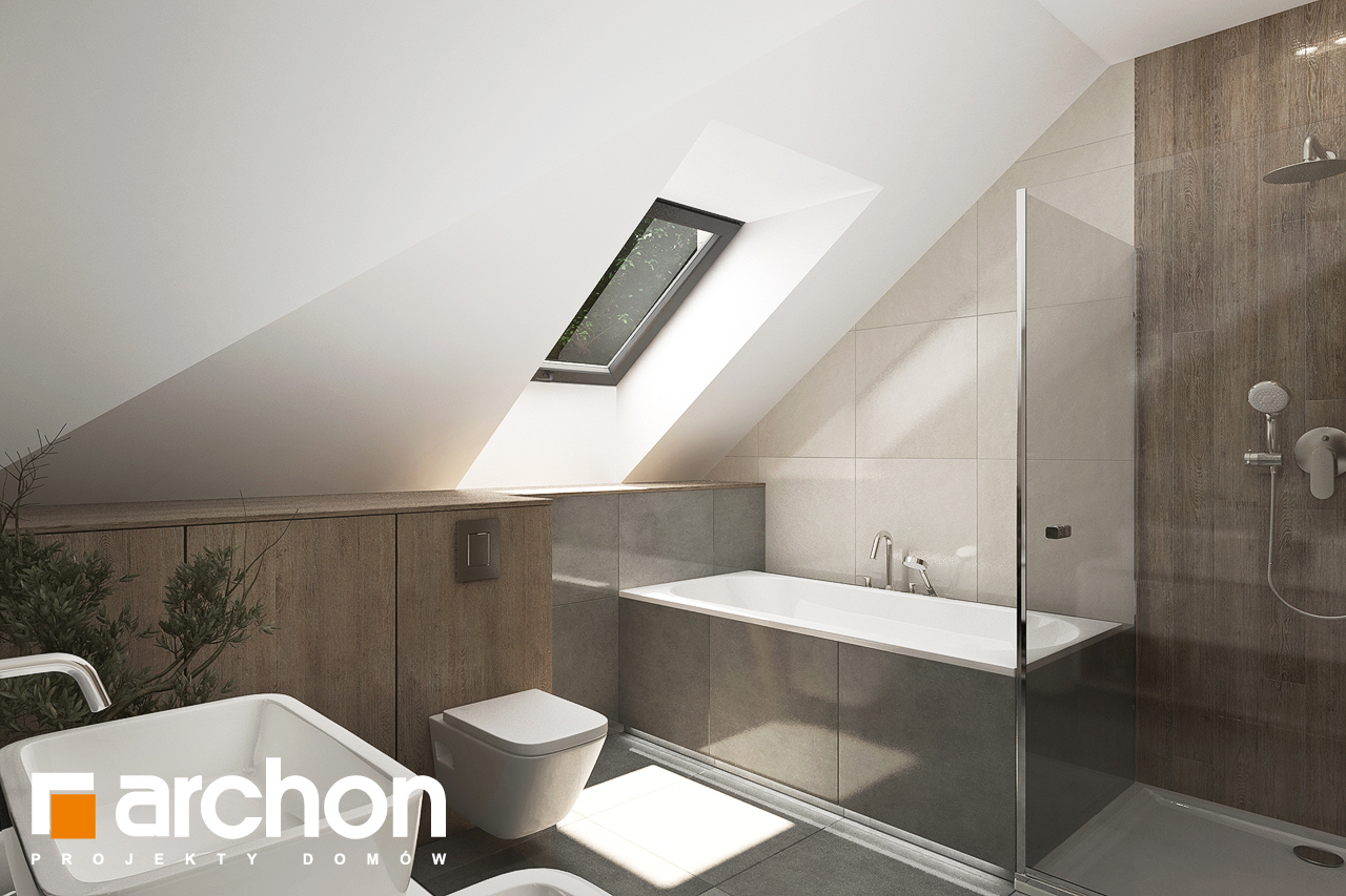 Проект будинку ARCHON+ Будинок в тополях (Г2) візуалізація ванни (візуалізація 3 від 2)