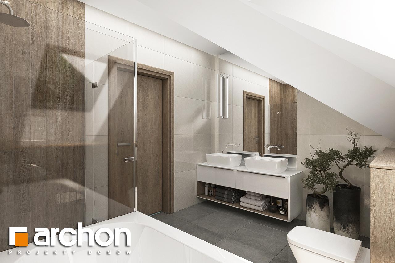 Проект дома ARCHON+ Дом в тополях (Г2) визуализация ванной (визуализация 3 вид 1)