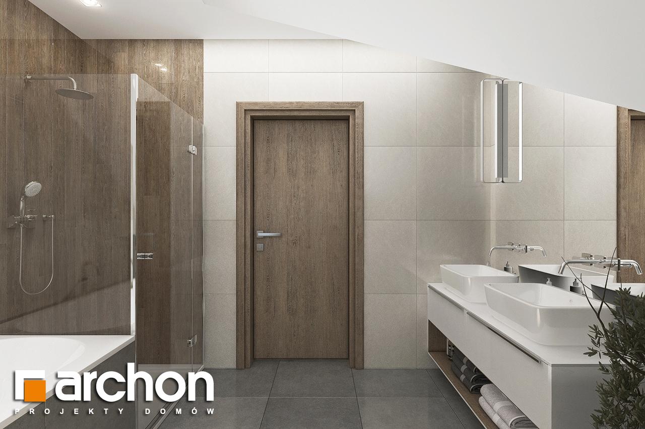 Проект дома ARCHON+ Дом в тополях (Г2) визуализация ванной (визуализация 3 вид 3)