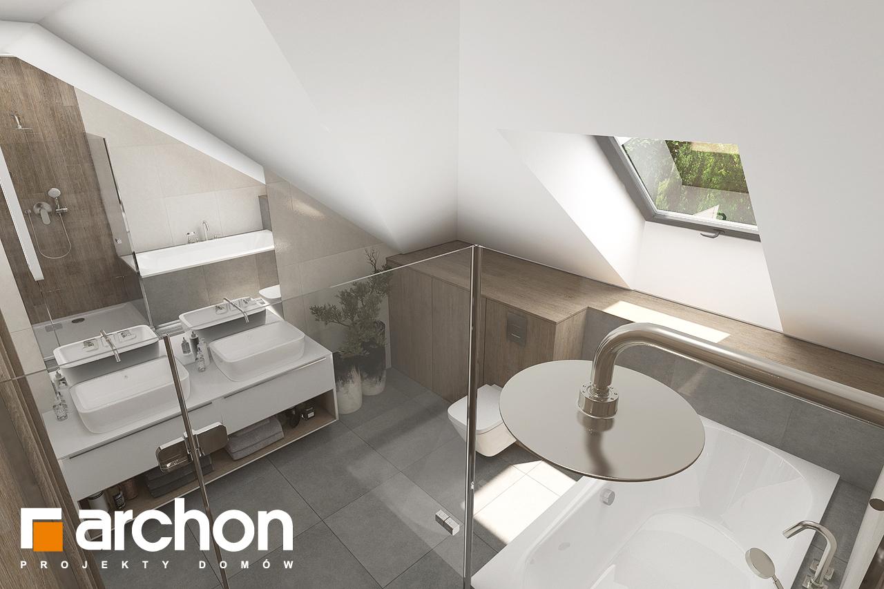 Проект дома ARCHON+ Дом в тополях (Г2) визуализация ванной (визуализация 3 вид 4)