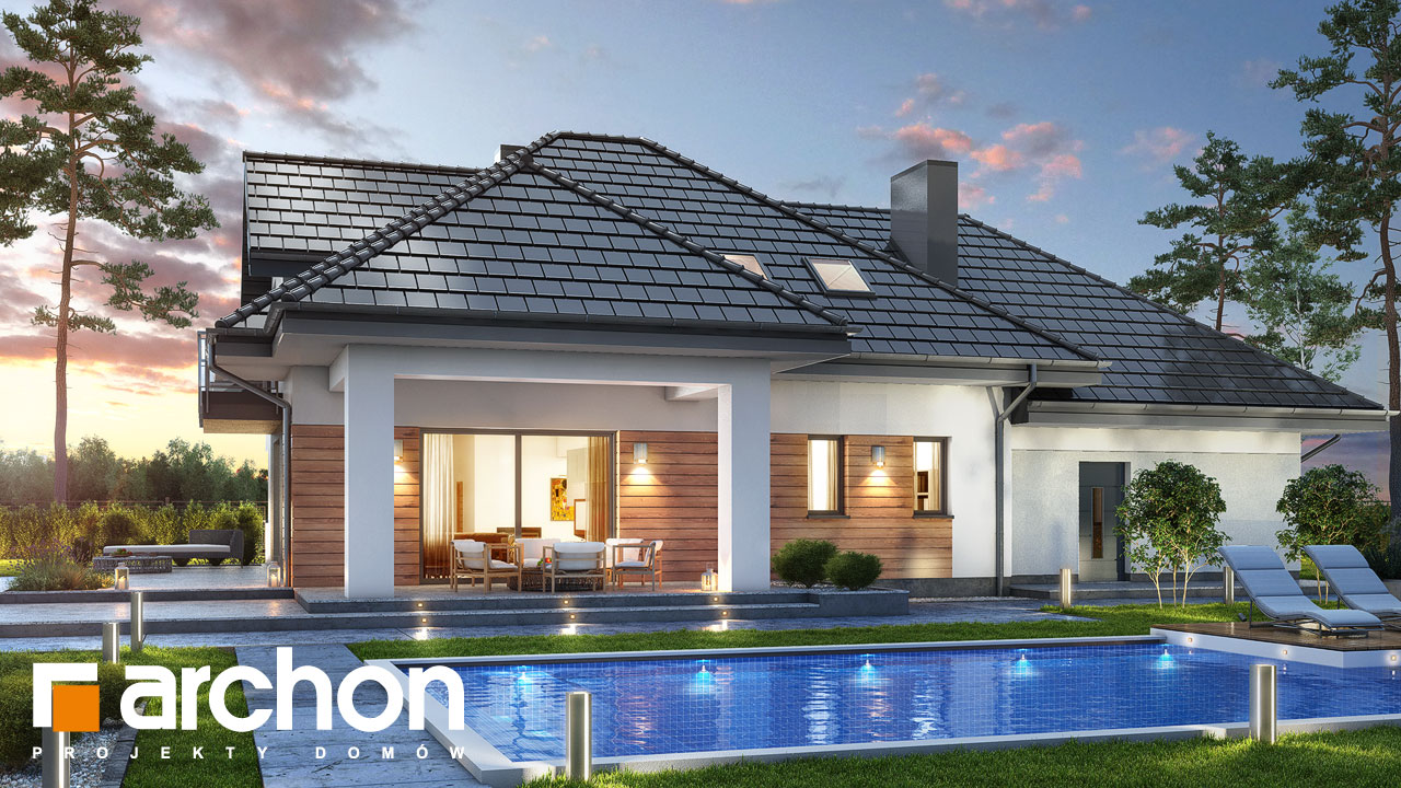 Проект будинку ARCHON+ Будинок в тополях (Г2) Вид 2