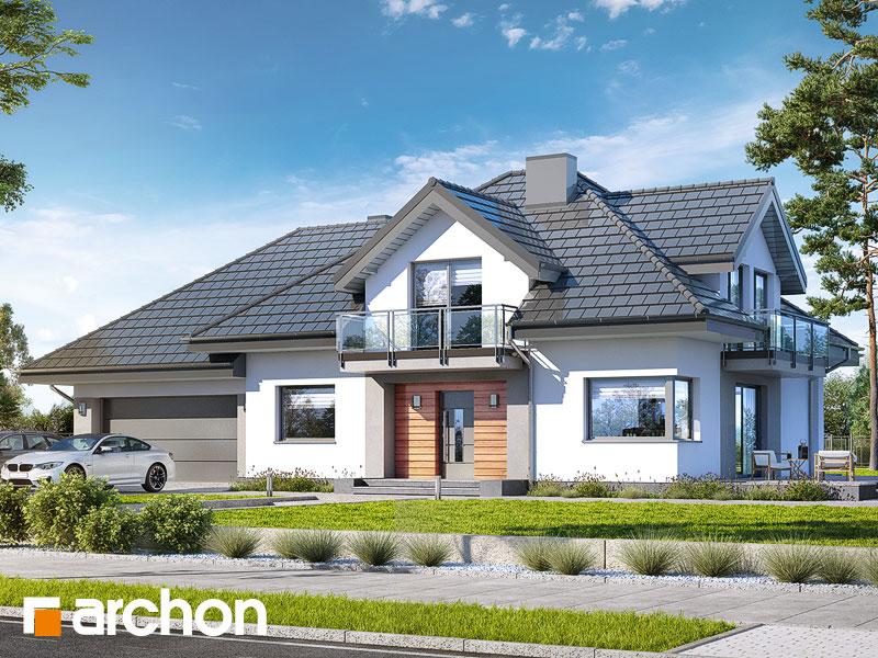 Проект будинку ARCHON+ Будинок в тополях (Г2) Вид 1