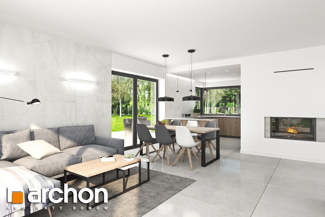 Проект дома ARCHON+ Дом в тополях (Г2) дневная зона (визуализация 1 вид 1)