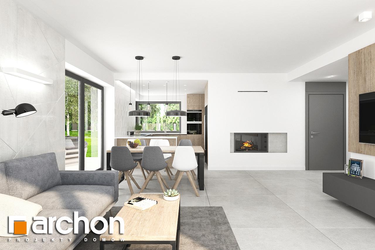 Проект дома ARCHON+ Дом в тополях (Г2) дневная зона (визуализация 1 вид 2)