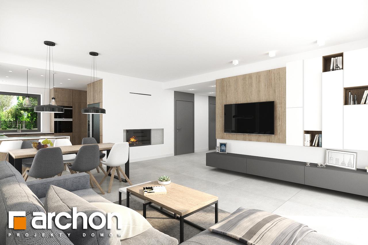 Проект дома ARCHON+ Дом в тополях (Г2) дневная зона (визуализация 1 вид 3)