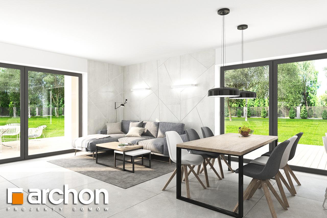 Проект дома ARCHON+ Дом в тополях (Г2) дневная зона (визуализация 1 вид 4)