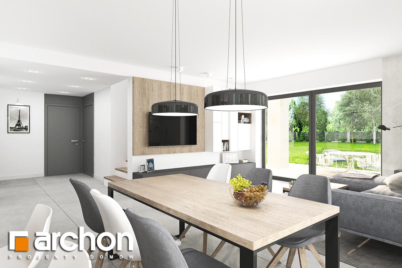 Проект дома ARCHON+ Дом в тополях (Г2) дневная зона (визуализация 1 вид 5)