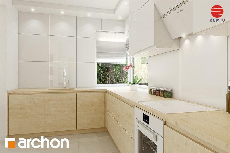 Проект дома ARCHON+ Дом в яблонках 8 (Г2) аранжировка кухни 1 вид 3