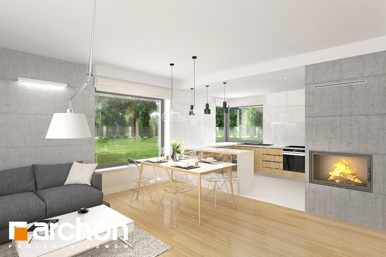 Проект будинку ARCHON+ Будинок в яблонках 8 (Г2) візуалізація кухні 1 від 3