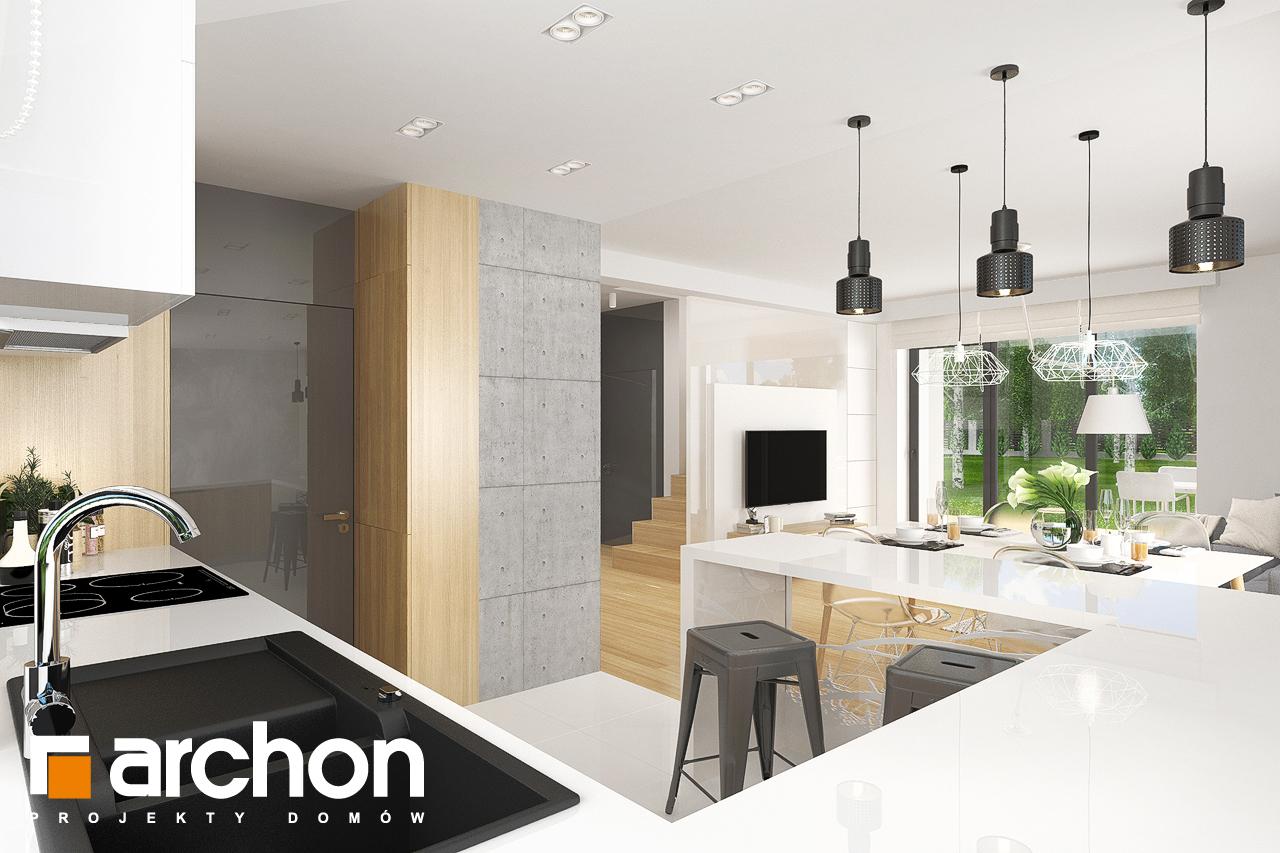 Проект дома ARCHON+ Дом в яблонках 8 (Г2) визуализация кухни 1 вид 2