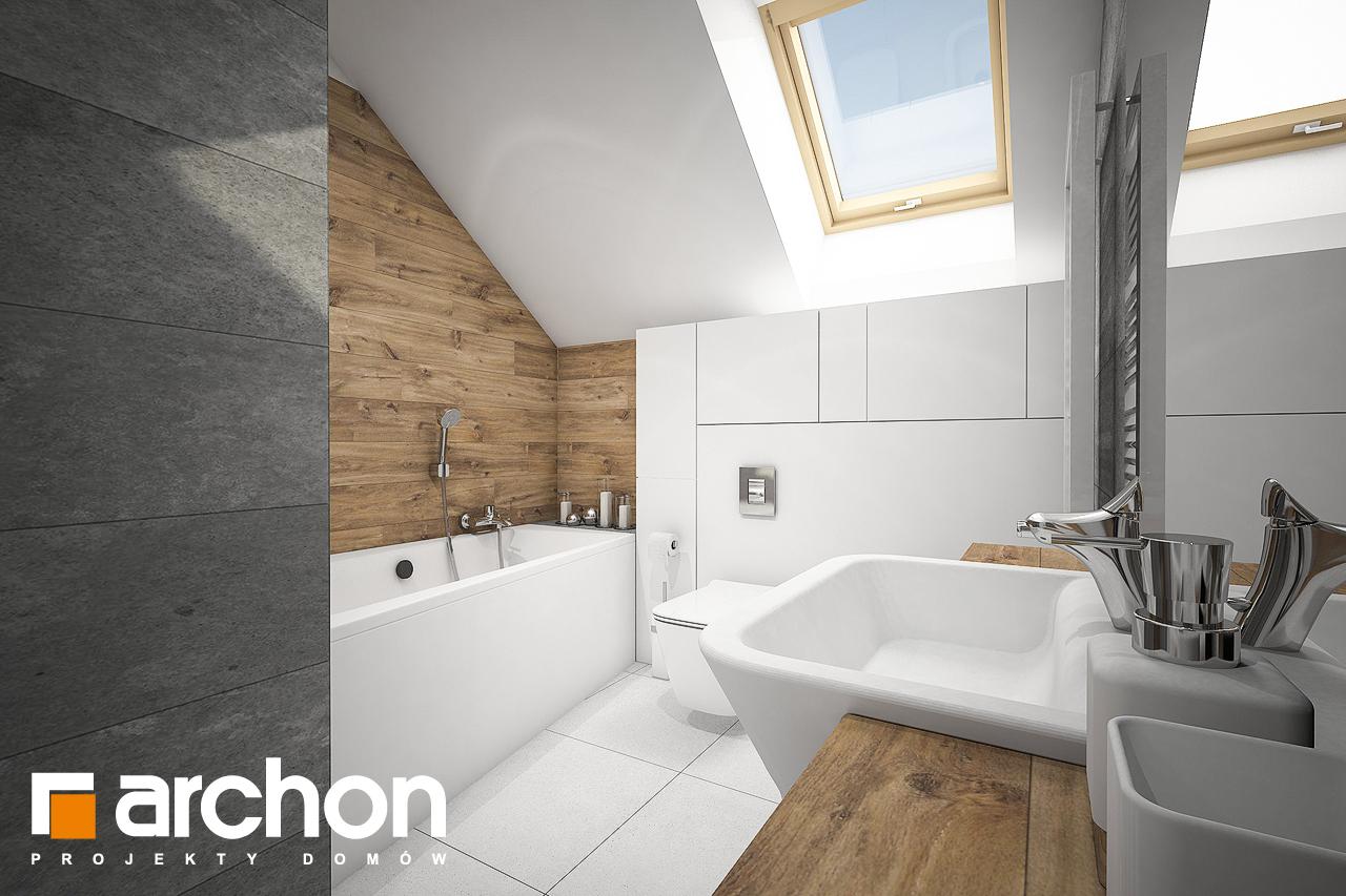 Проект дома ARCHON+ Дом в яблонках 8 (Г2) визуализация ванной (визуализация 3 вид 1)