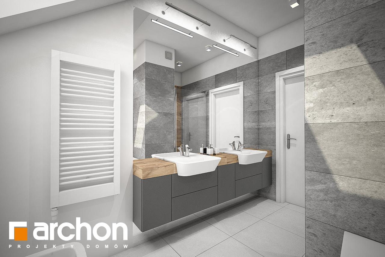 Проект дома ARCHON+ Дом в яблонках 8 (Г2) визуализация ванной (визуализация 3 вид 2)