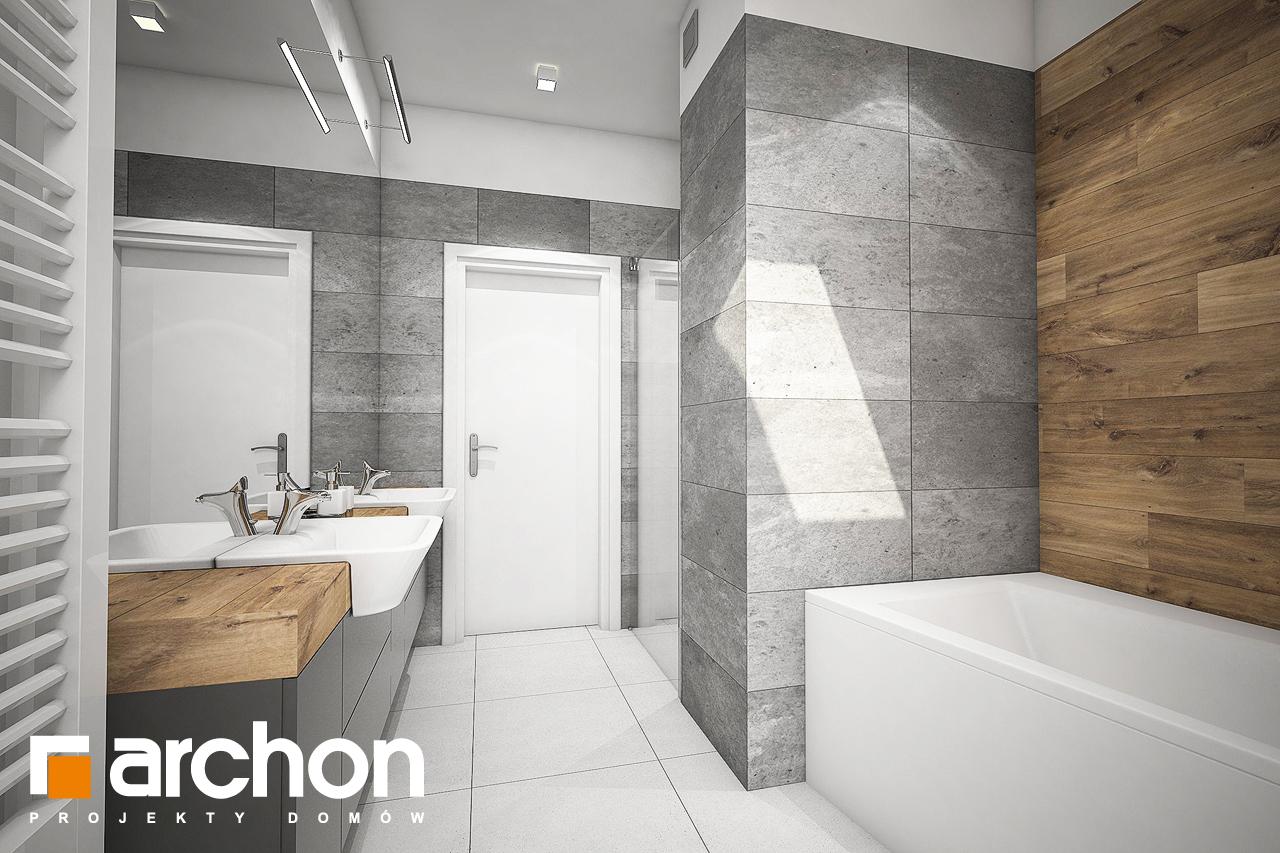 Проект дома ARCHON+ Дом в яблонках 8 (Г2) визуализация ванной (визуализация 3 вид 3)
