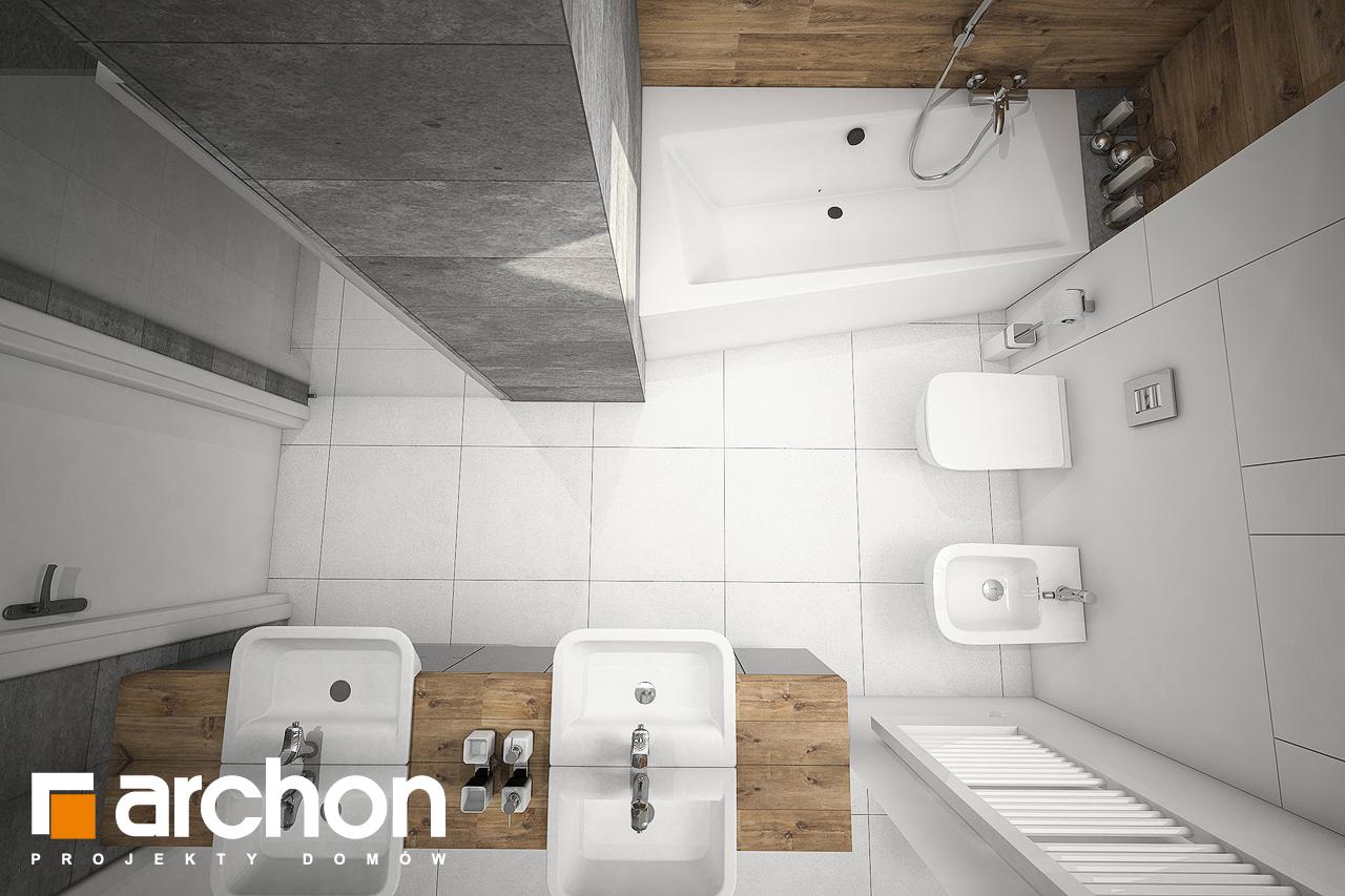 Проект дома ARCHON+ Дом в яблонках 8 (Г2) визуализация ванной (визуализация 3 вид 4)