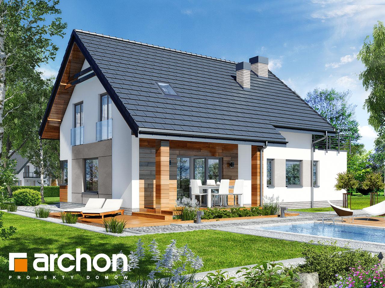 Проект дома ARCHON+ Дом в яблонках 8 (Г2) Вид 2