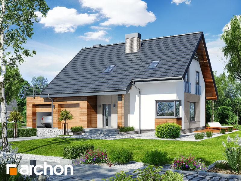 Проект дома ARCHON+ Дом в яблонках 8 (Г2) Вид 1