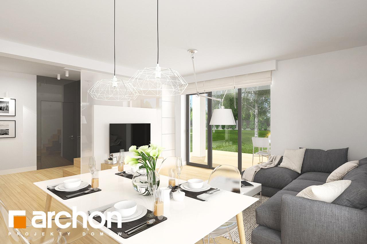 Проект будинку ARCHON+ Будинок в яблонках 8 (Г2) денна зона (візуалізація 2 від 1)