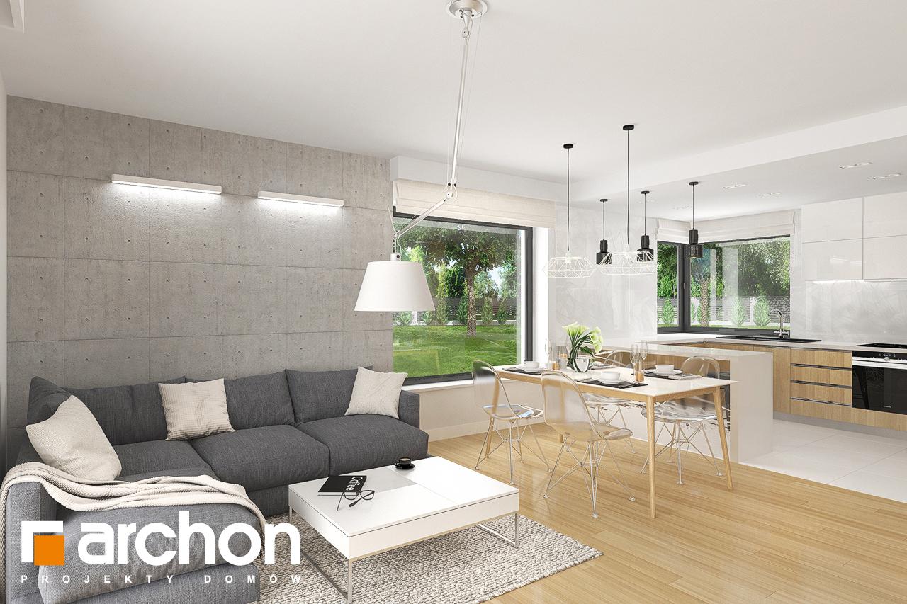 Проект дома ARCHON+ Дом в яблонках 8 (Г2) дневная зона (визуализация 2 вид 2)