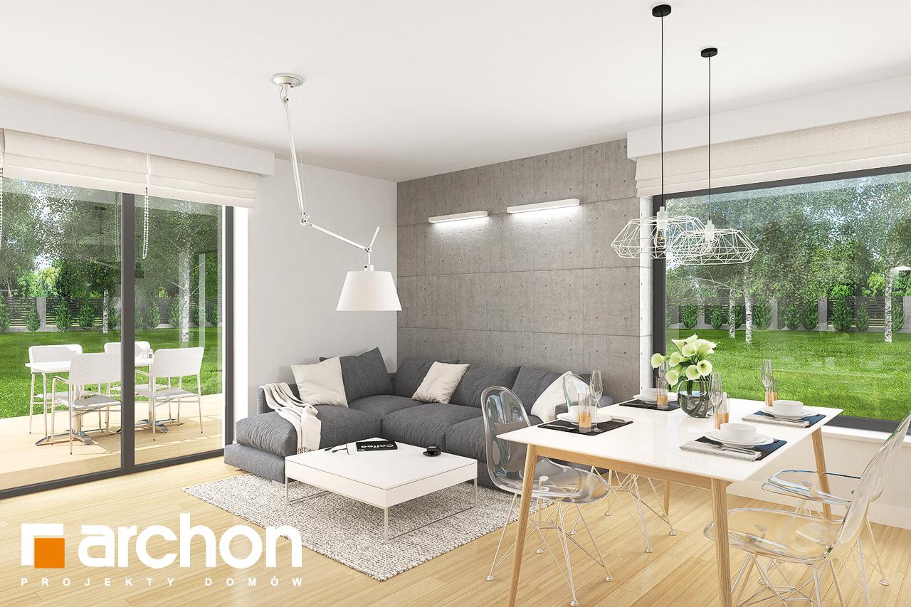 Проект дома ARCHON+ Дом в яблонках 8 (Г2) дневная зона (визуализация 2 вид 3)