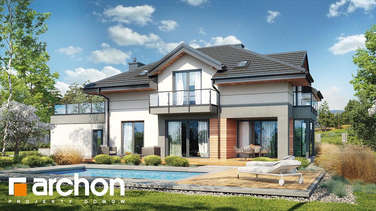 Проект будинку ARCHON+ Будинок в сливах 6 (Г2)