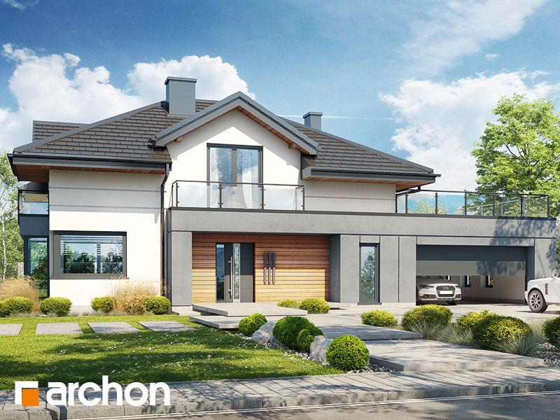Проект будинку ARCHON+ Будинок в сливах 6 (Г2) Вид 1