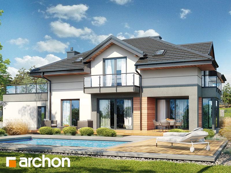 Проект будинку ARCHON+ Будинок в сливах 6 (Г2) Вид 2