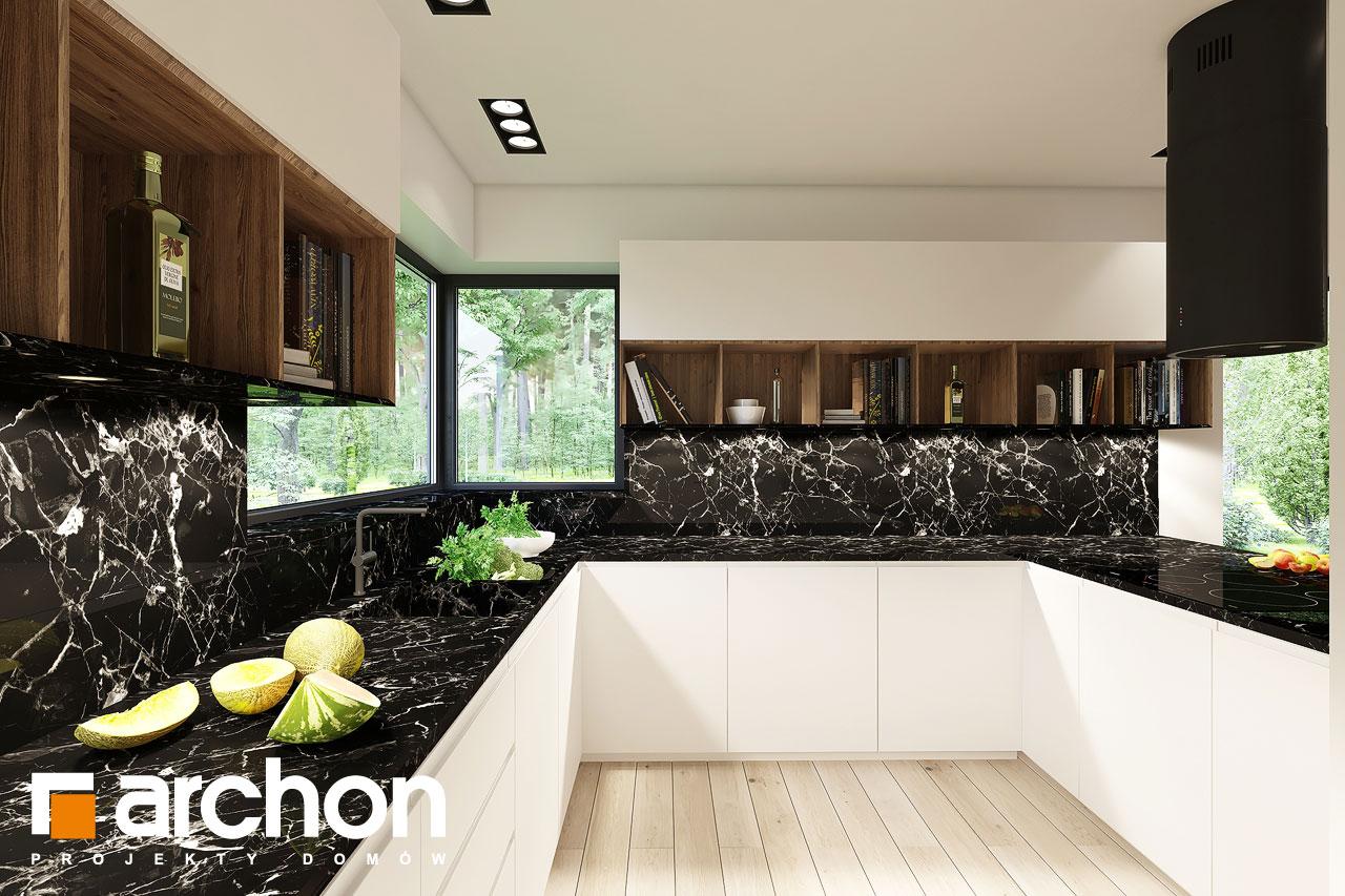 Проект будинку ARCHON+ Будинок в ренклодах 4 візуалізація кухні 1 від 2