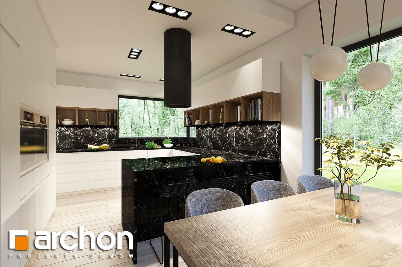 Проект будинку ARCHON+ Будинок в ренклодах 4 візуалізація кухні 1 від 3