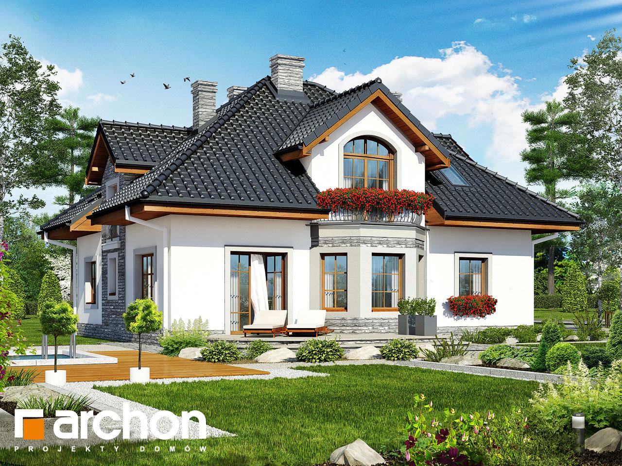 Проект будинку ARCHON+ Будинок в тим'яні 9 Вид 2