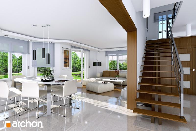 Проект дома ARCHON+ Дом в тимьяне 9 дневная зона (визуализация 1 вид 1)