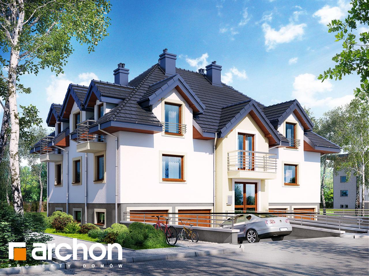 Проект дома ARCHON+ Дом у бульвара ver.2 Вид 2