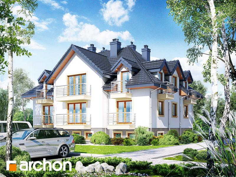 Проект дома ARCHON+ Дом у бульвара ver.2 Вид 1