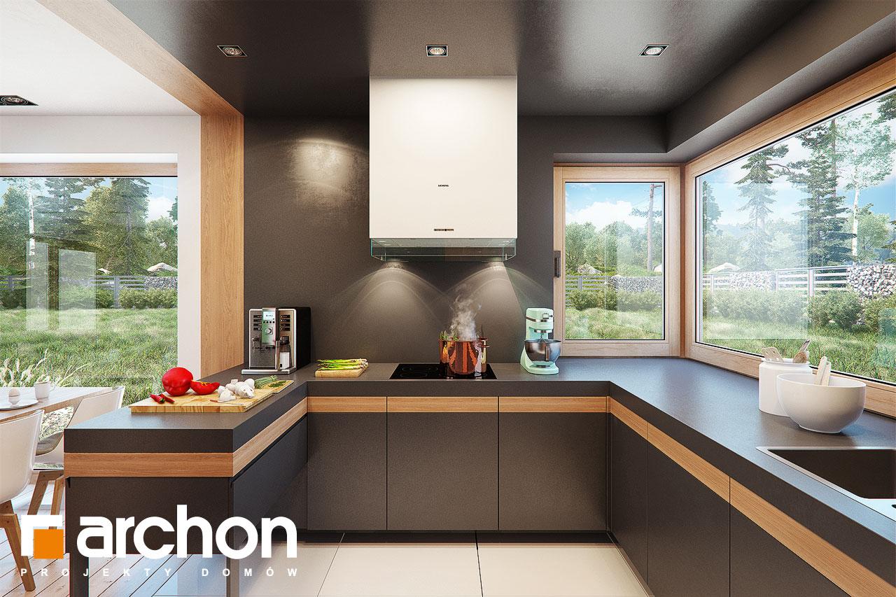 Проект дома ARCHON+ Дом в аммобиуме визуализация кухни 1 вид 1