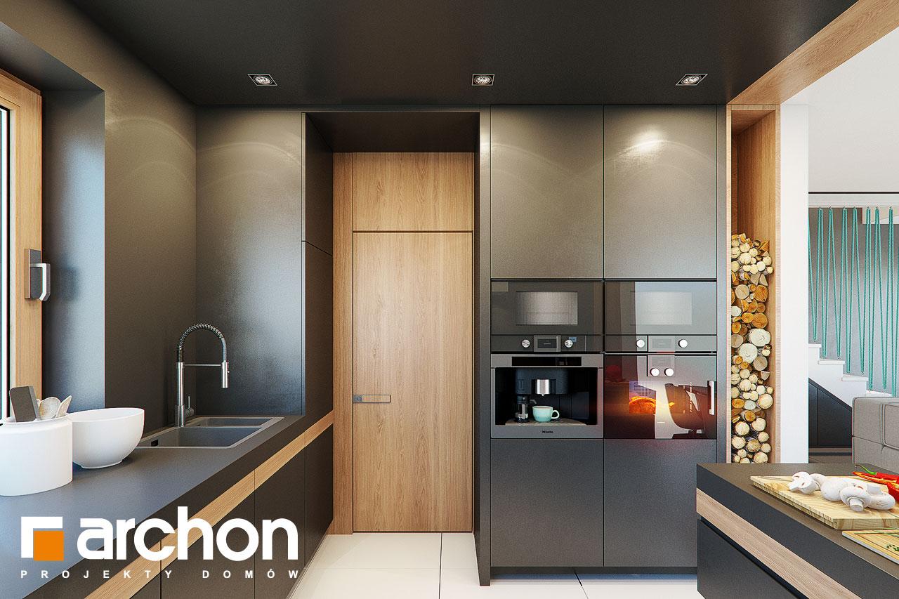 Проект дома ARCHON+ Дом в аммобиуме визуализация кухни 1 вид 2