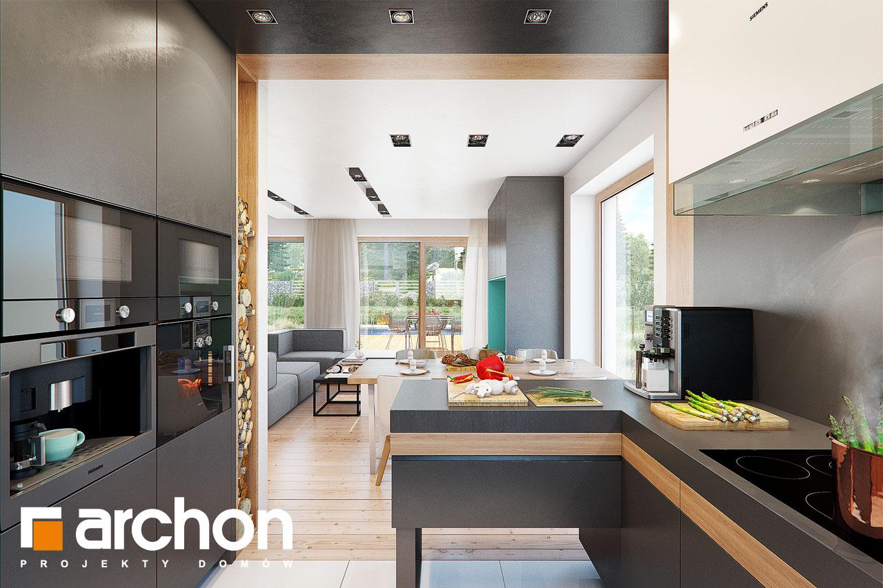 Проект дома ARCHON+ Дом в аммобиуме визуализация кухни 1 вид 3