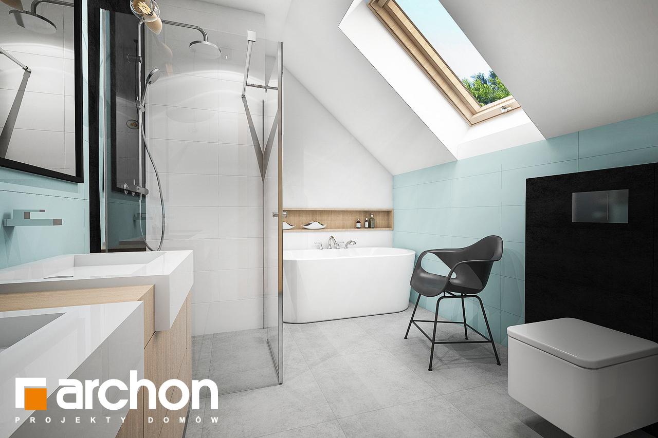 Проект дома ARCHON+ Дом в аммобиуме визуализация ванной (визуализация 3 вид 3)