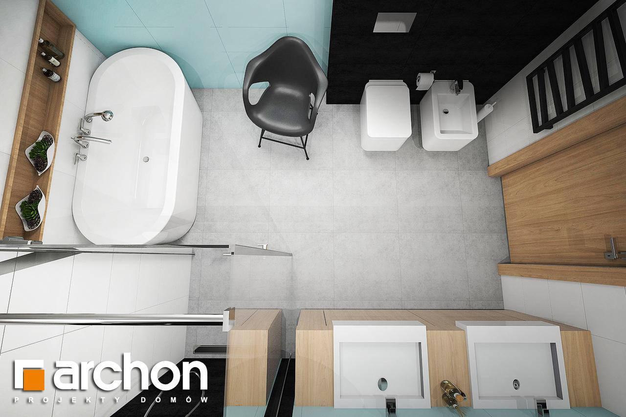 Проект дома ARCHON+ Дом в аммобиуме визуализация ванной (визуализация 3 вид 4)