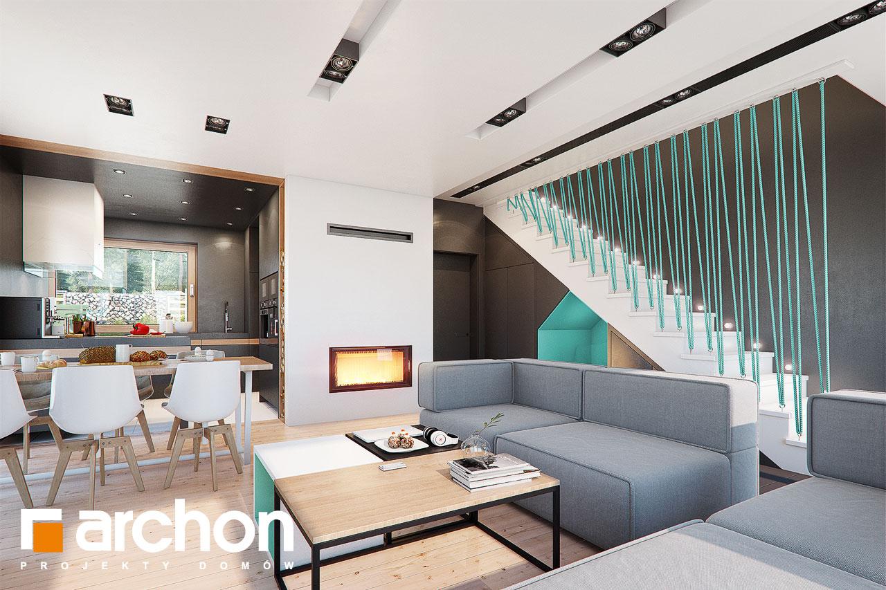 Проект дома ARCHON+ Дом в аммобиуме дневная зона (визуализация 1 вид 3)