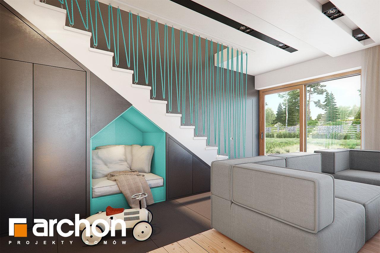 Проект дома ARCHON+ Дом в аммобиуме дневная зона (визуализация 1 вид 5)